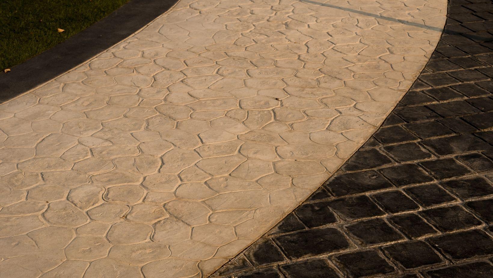 Nice custom stamped concrete walkway from Redmond Concrete Pros